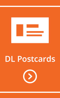 DL postcards design and print