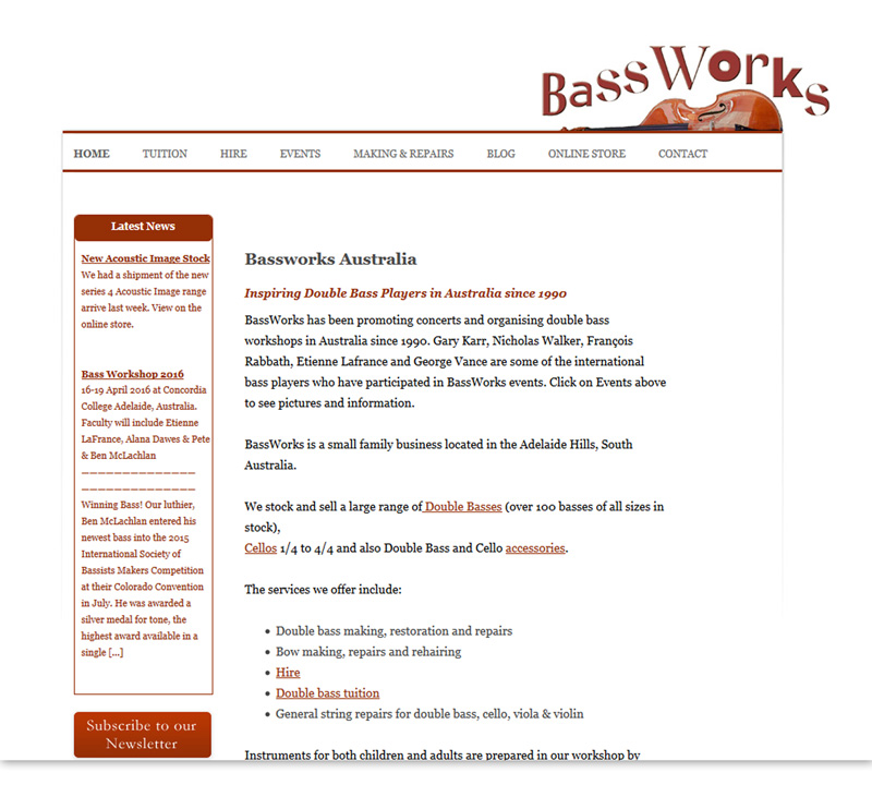 Bassworks - Double Bass Online Store