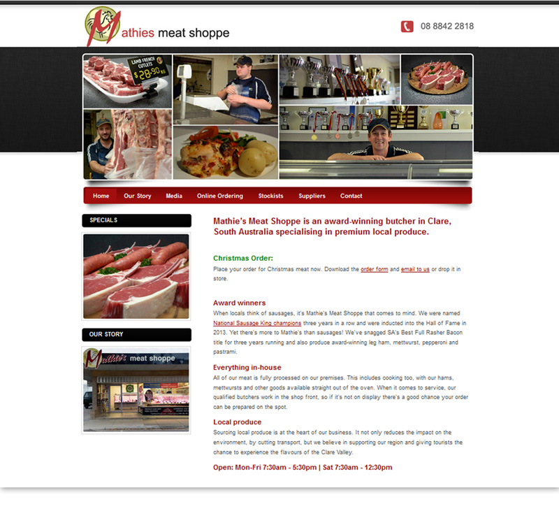 Mathies Meat Shoppe Online Store
