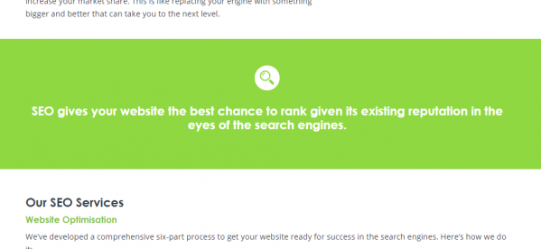 How we highlighted the importance of a strong Search Engine Optimisation strategy on our Bizboost website.